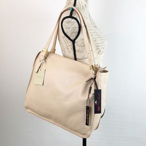 innue Bags - Innue Leather Bag Large Tote Shoulder Nude Cream